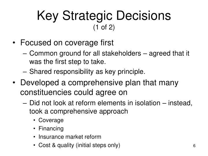 Key Strategic Decisions