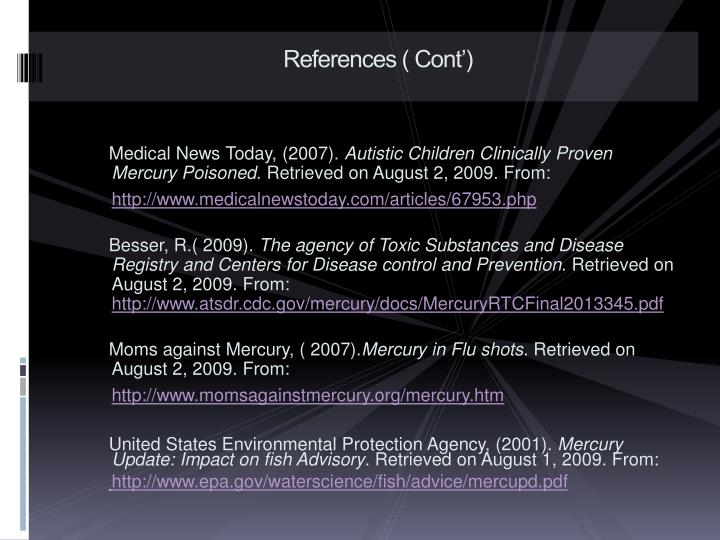 References ( Cont')