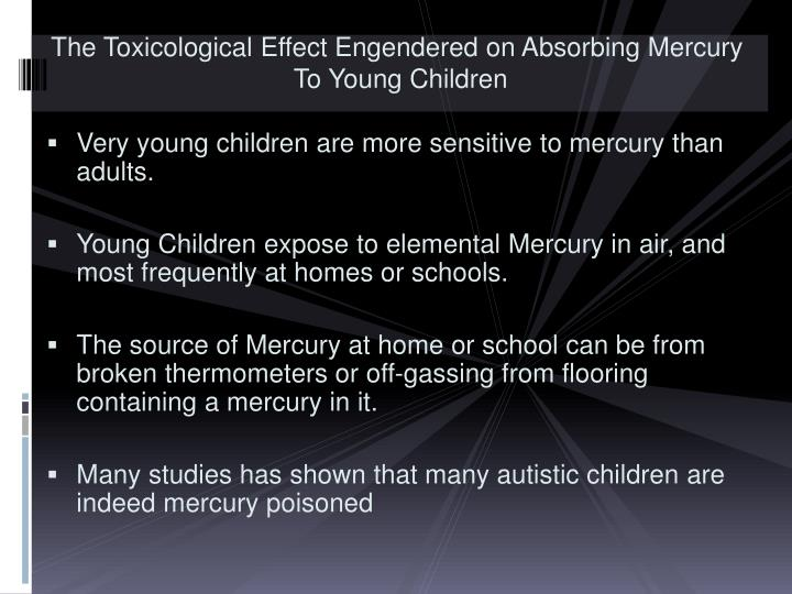 The Toxicological Effect Engendered on Absorbing Mercury