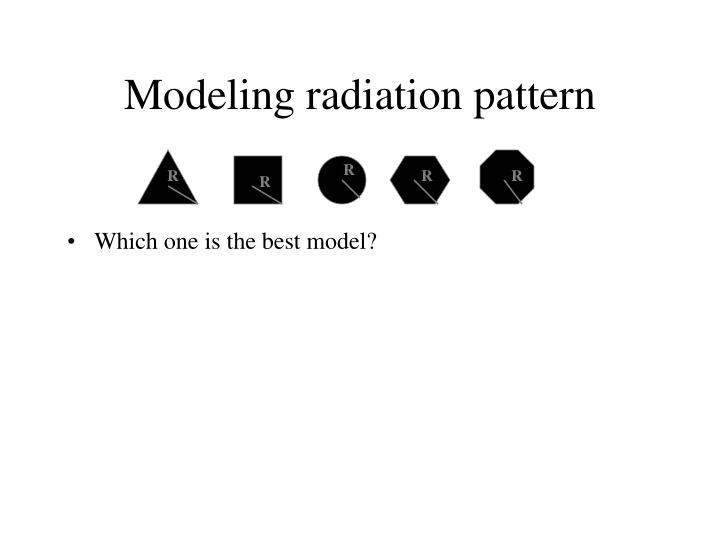 Modeling radiation pattern