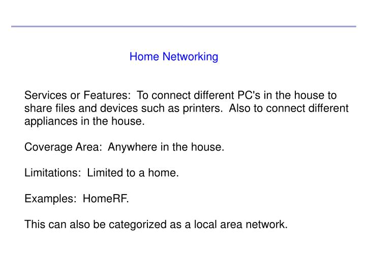 Home Networking