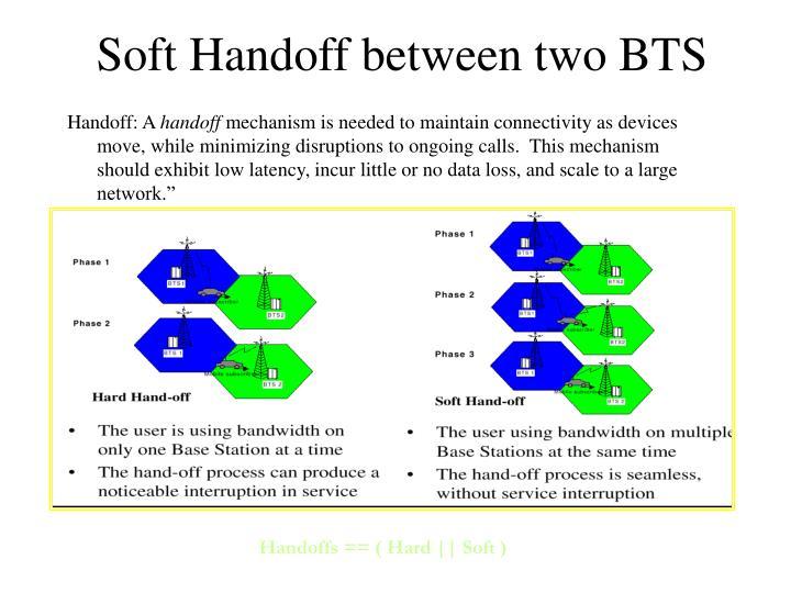 Soft Handoff between two BTS
