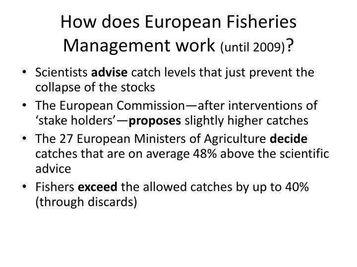 How does European Fisheries Management work