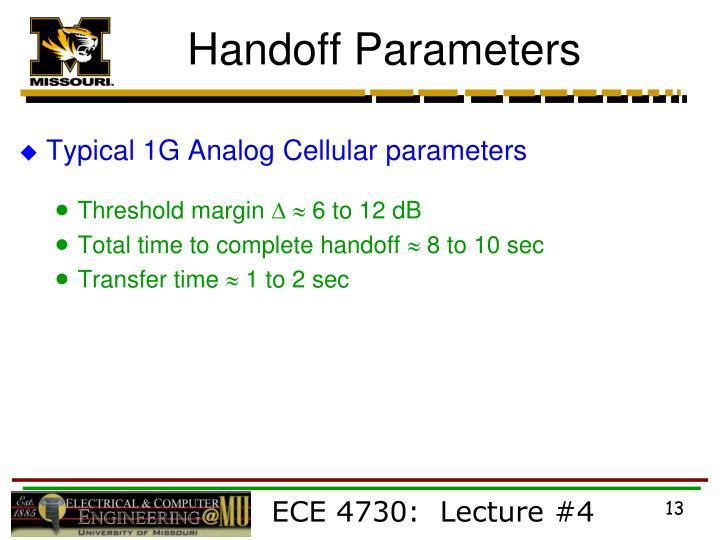 Handoff Parameters