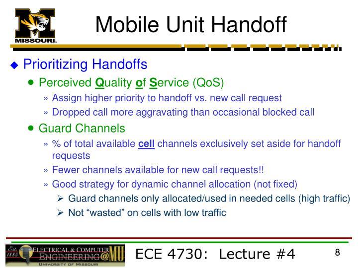 Mobile Unit Handoff