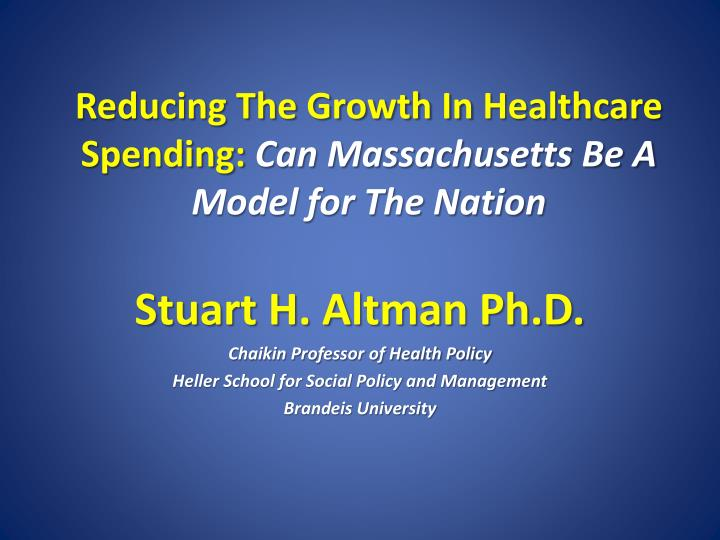 Reducing The Growth In