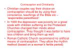 contraception and christianity