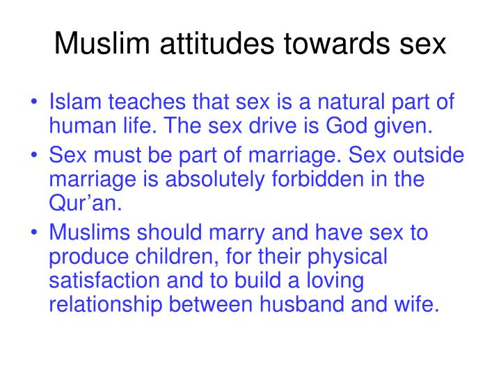 Muslim attitudes towards sex
