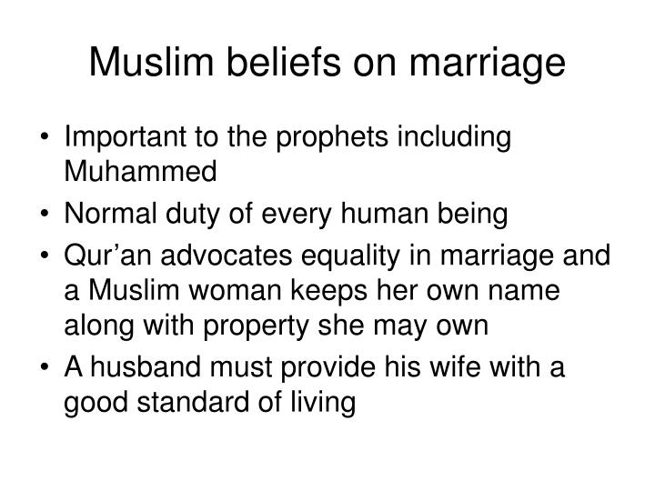 Muslim beliefs on marriage