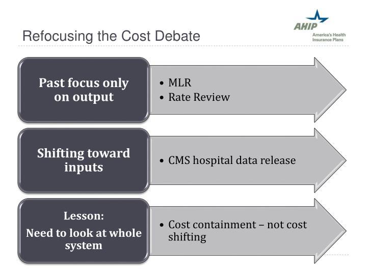 Refocusing the Cost Debate