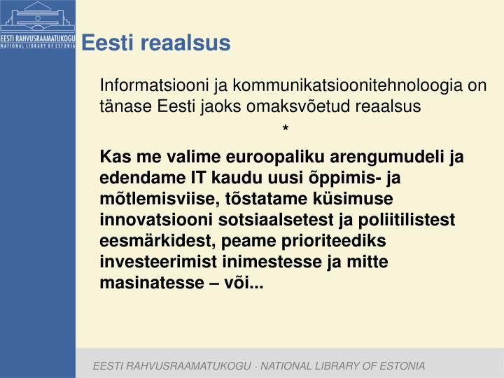 Eesti reaalsus