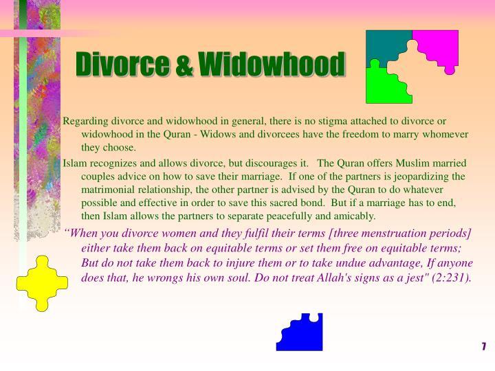 Divorce & Widowhood