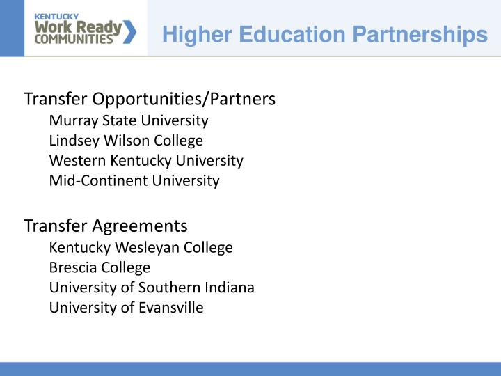Higher Education Partnerships