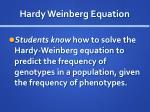 hardy weinberg equation