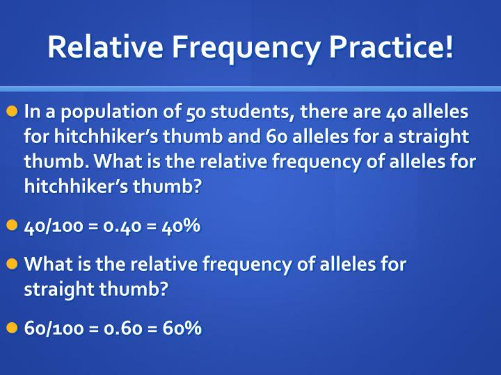 Relative Frequency Practice!