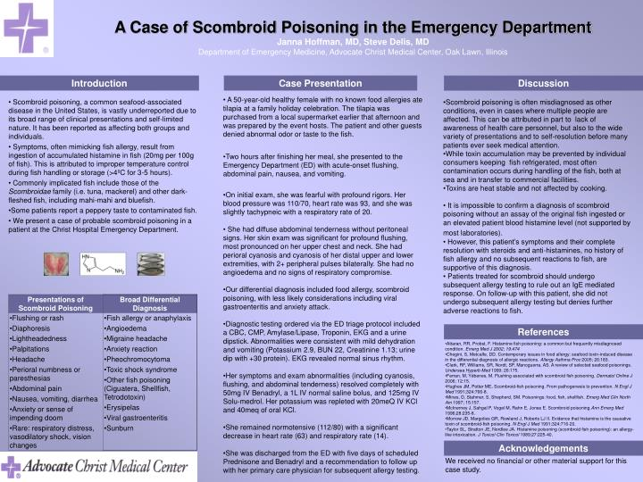 A Case of Scombroid Poisoning in the Emergency Department