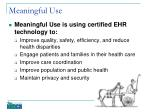 meaningful use1