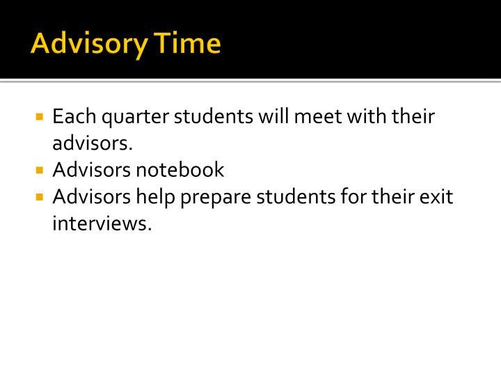 Advisory Time