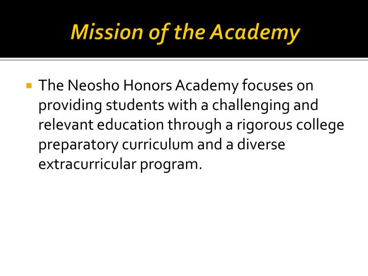 Mission of the Academy