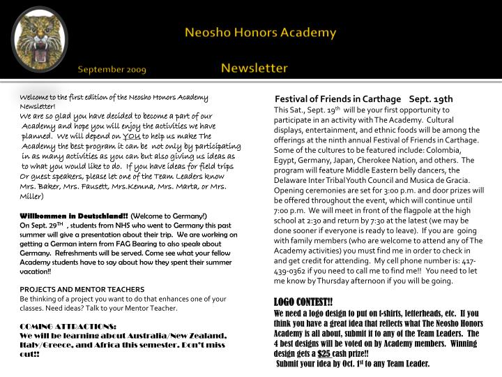 Neosho Honors Academy