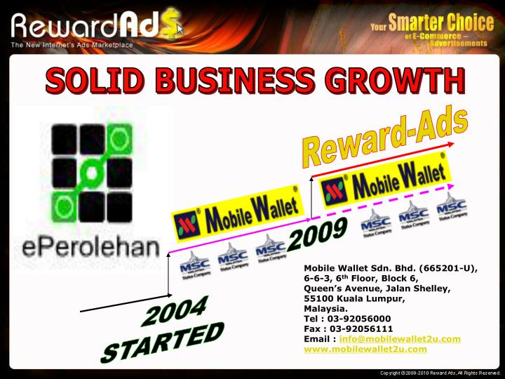 SOLID BUSINESS GROWTH