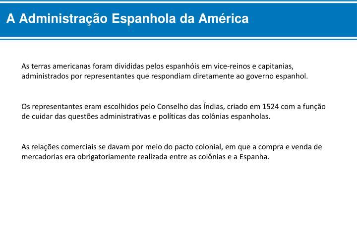 A Administração Espanhola da América