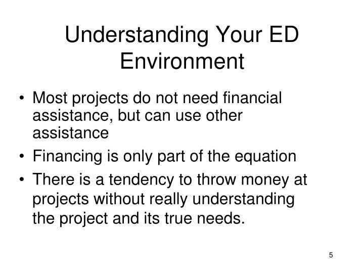 Understanding Your ED Environment