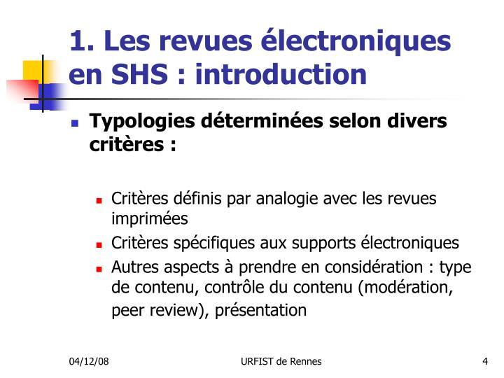 1. Les revues électroniques en SHS : introduction