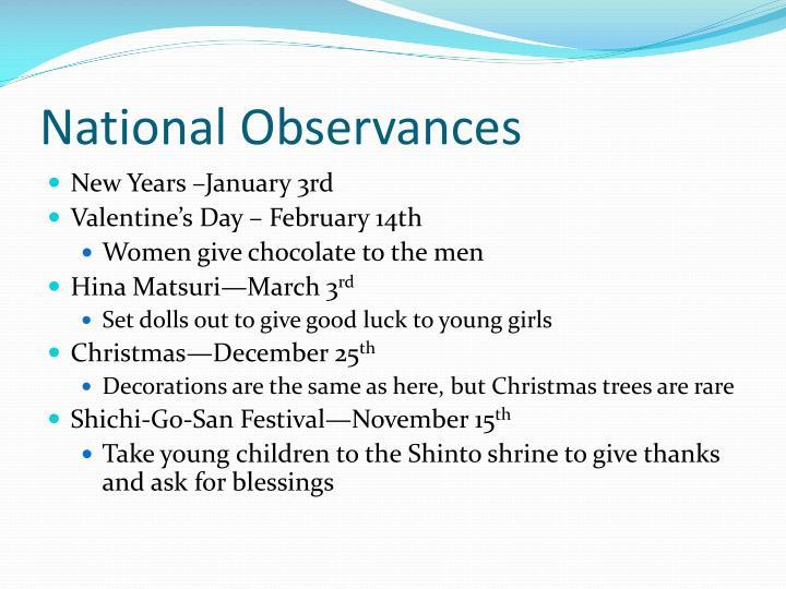 National Observances