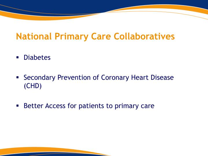 National Primary Care Collaboratives