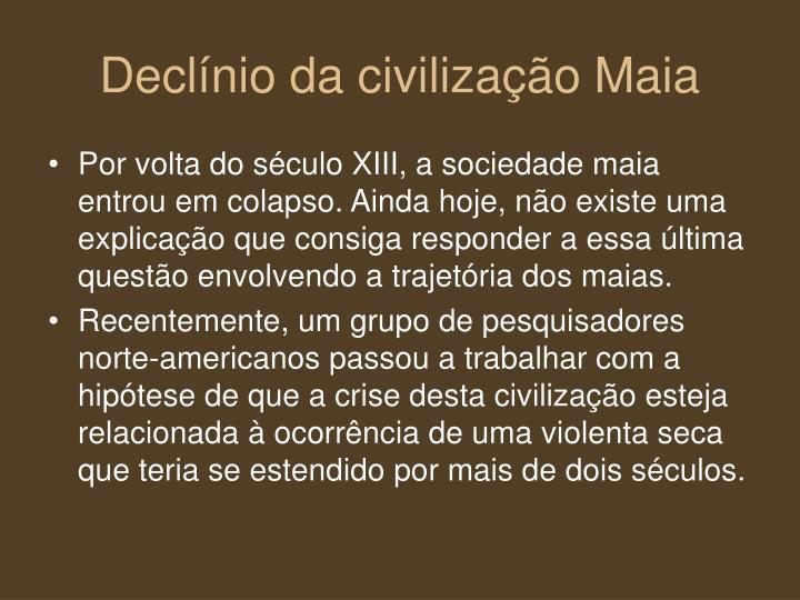 Declínio da civilização Maia
