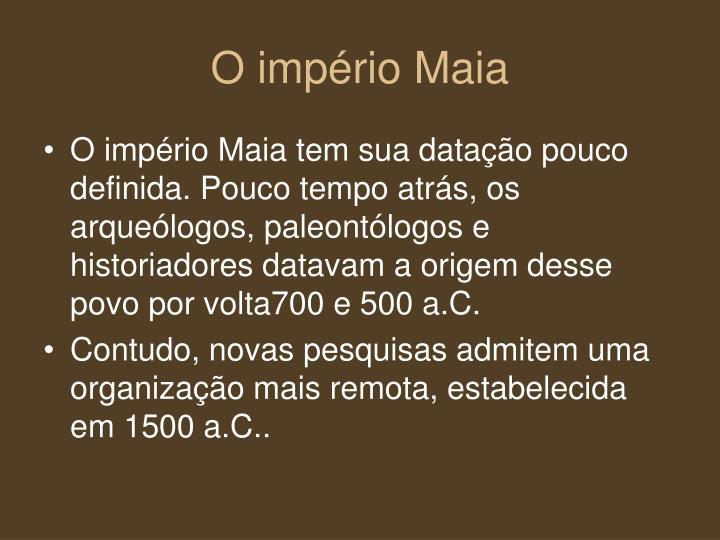 O império Maia