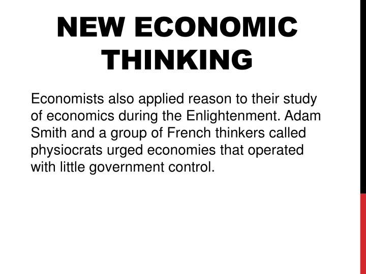 New economic thinking