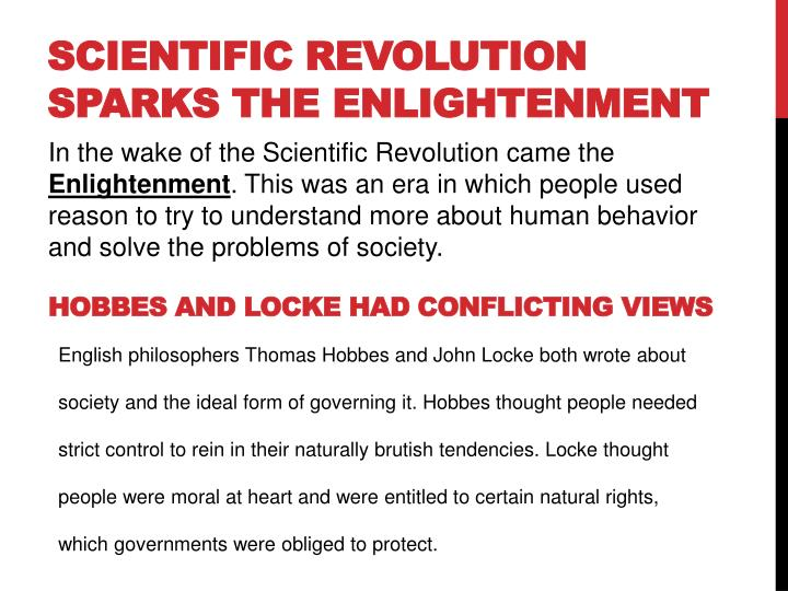 Scientific Revolution Sparks the