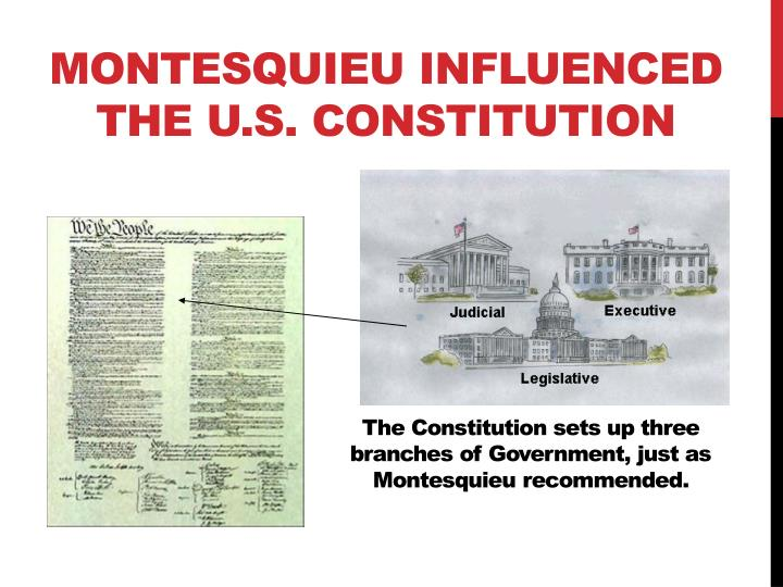 Montesquieu influenced the U.S. Constitution