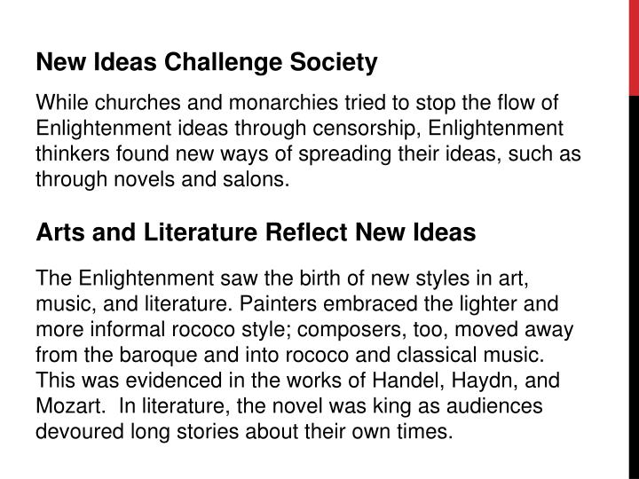 New Ideas Challenge Society