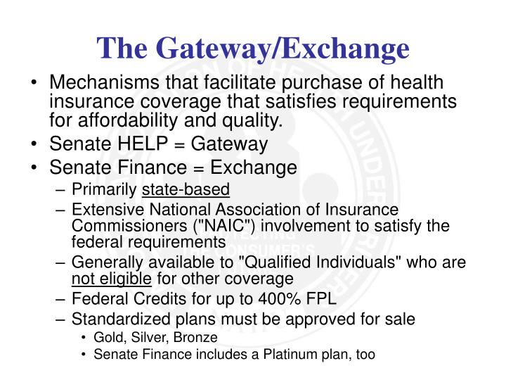 Mechanisms that facilitate purchase of health insurance coverage that satisfies requirements for affordability and quality.