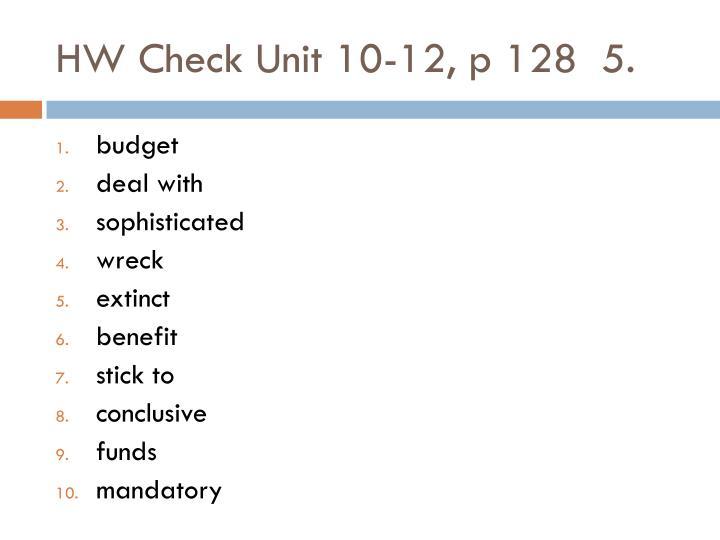 HW Check Unit 10-12, p