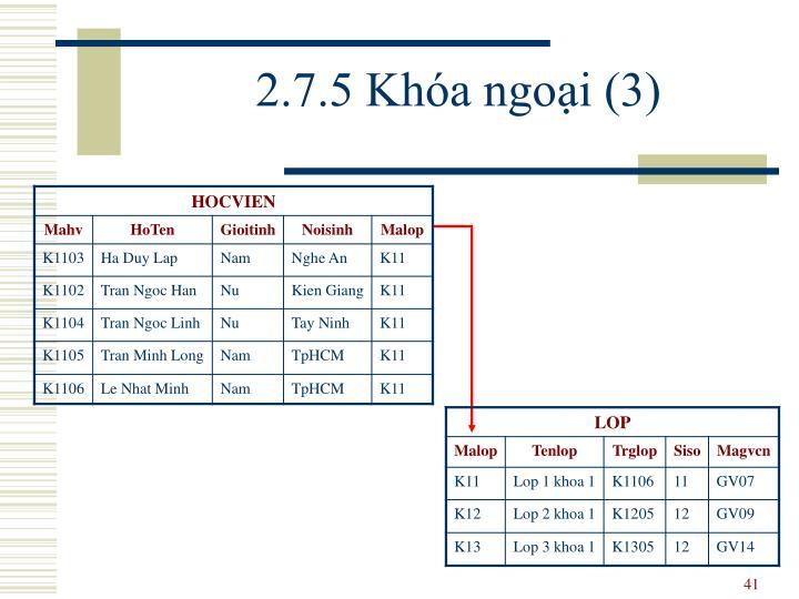2.7.5 Khóa ngoại (3)
