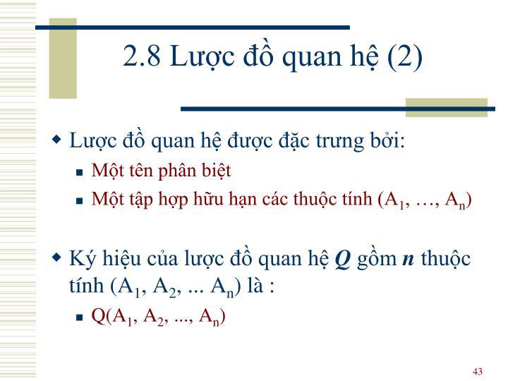 2.8 Lược đồ quan hệ (2)
