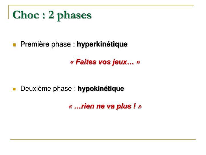 Choc : 2 phases