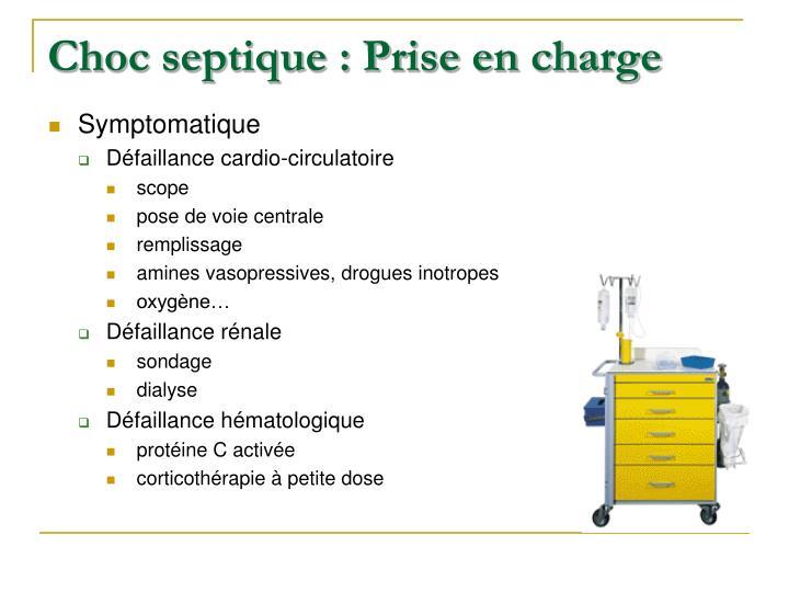 Choc septique : Prise en charge