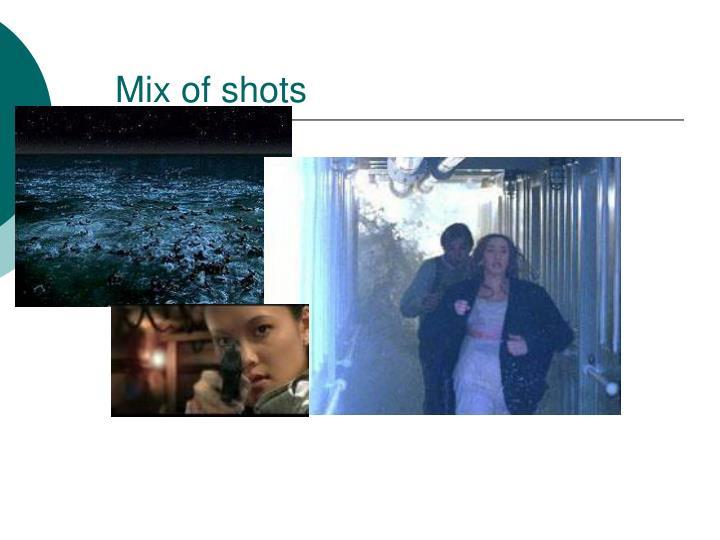 Mix of shots