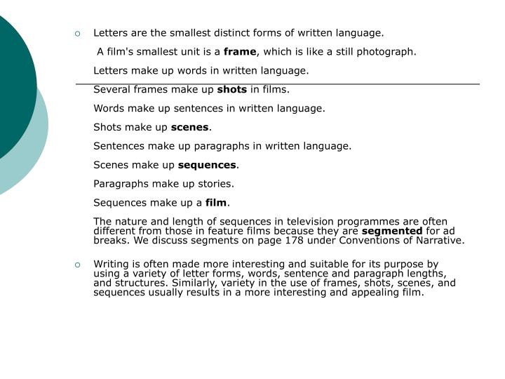 Letters are the smallest distinct forms of written language.