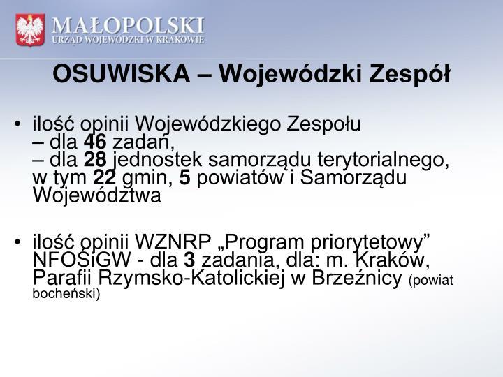 OSUWISKA – Wojewódzki Zespół