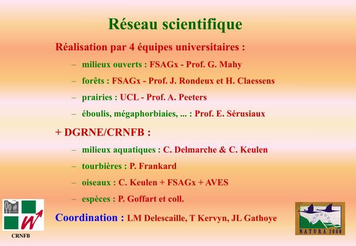 Réseau scientifique
