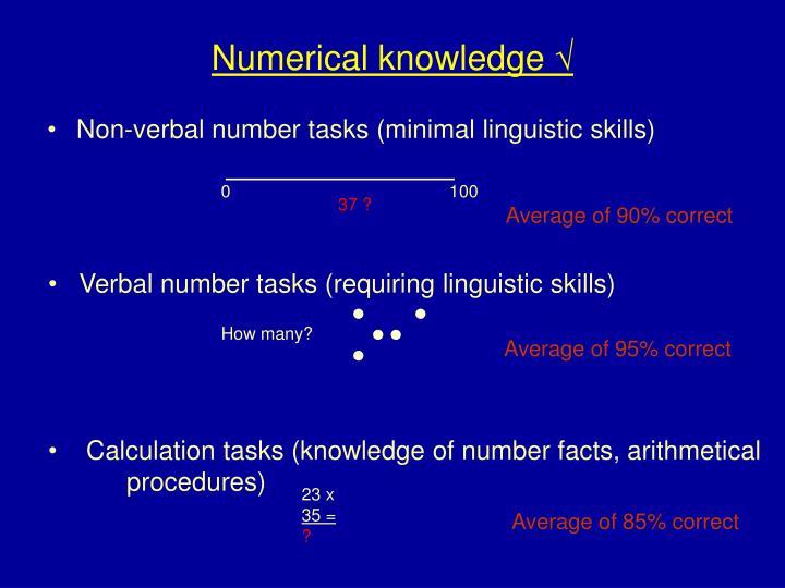 Numerical knowledge