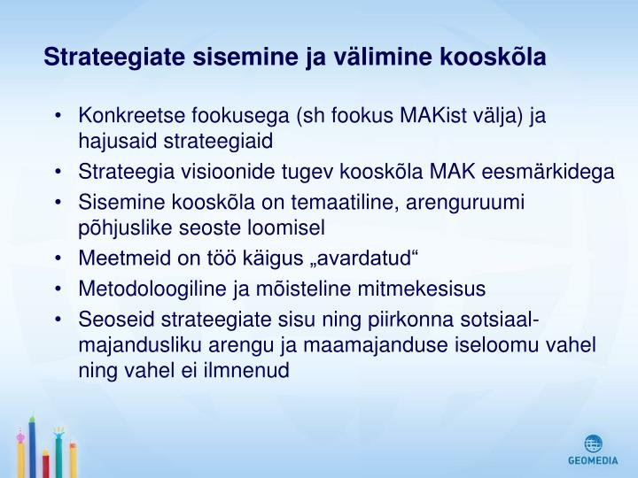 Strateegiate sisemine ja välimine kooskõla
