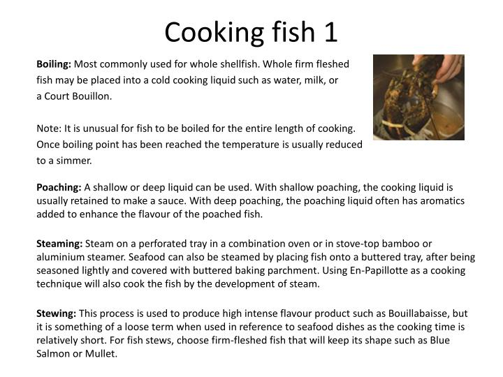 Cooking fish 1