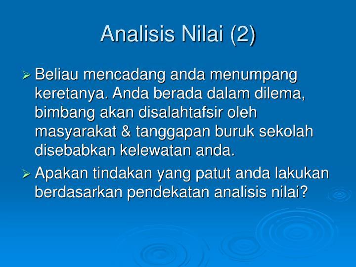 Analisis Nilai (2)